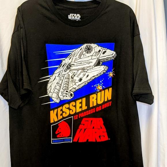 Star Wars Kessel Run t shirt black sz XL